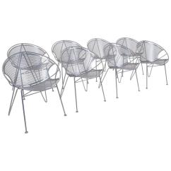 Outdoor Dining Chairs Sale Ergonomic Chair Sydney Eight John Salterini Hoop Design With Rare Hairpin Legs For