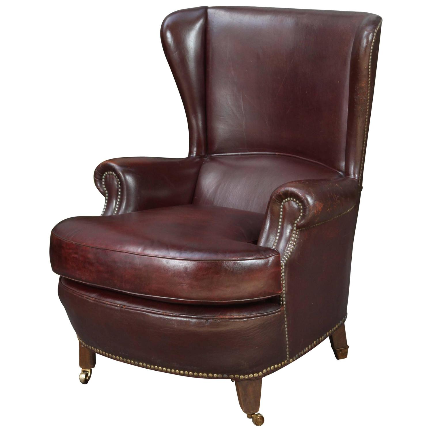 wingback chair for sale high back wooden chairs leather at 1stdibs