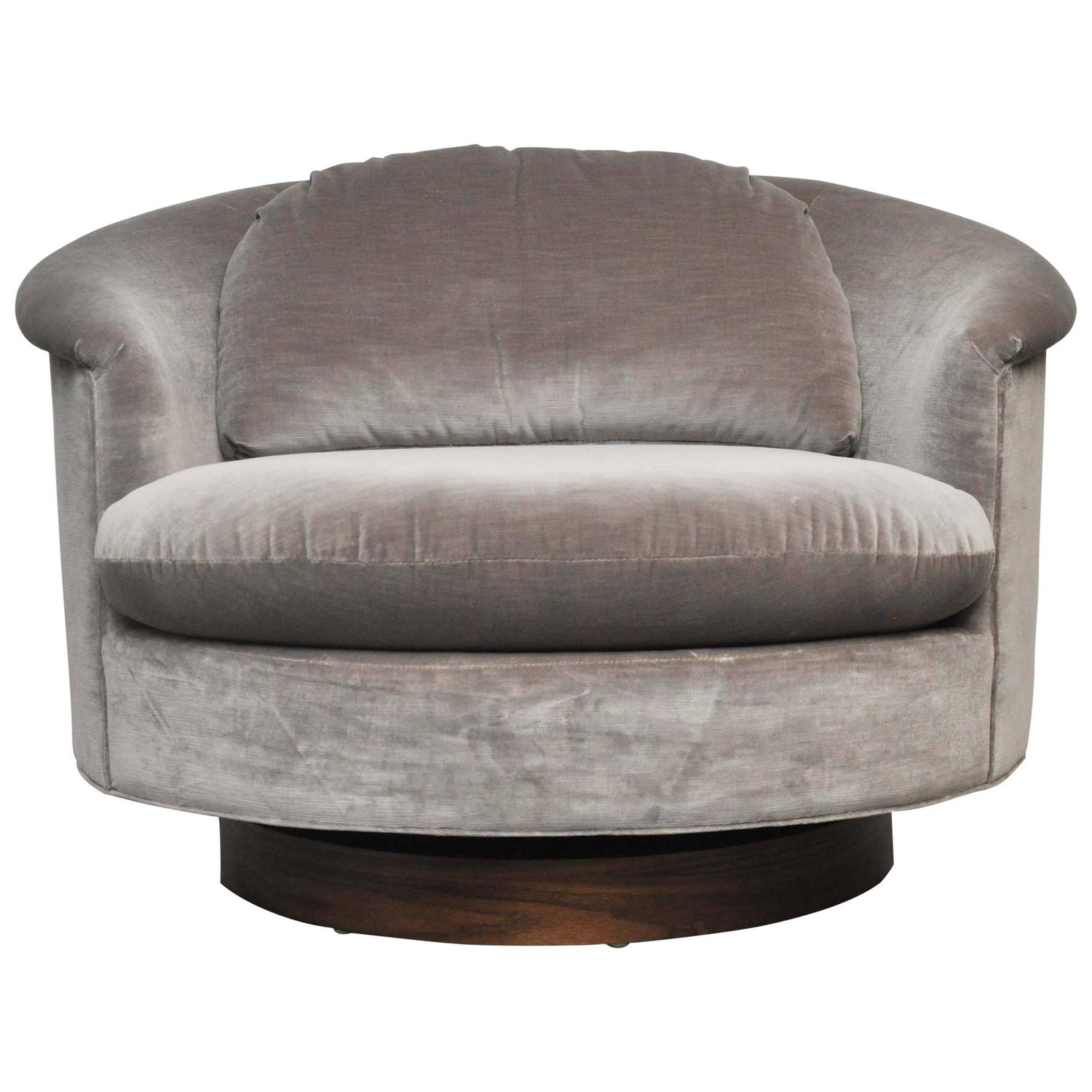 swivel chair large stainless steel hsn code milo baughman at 1stdibs