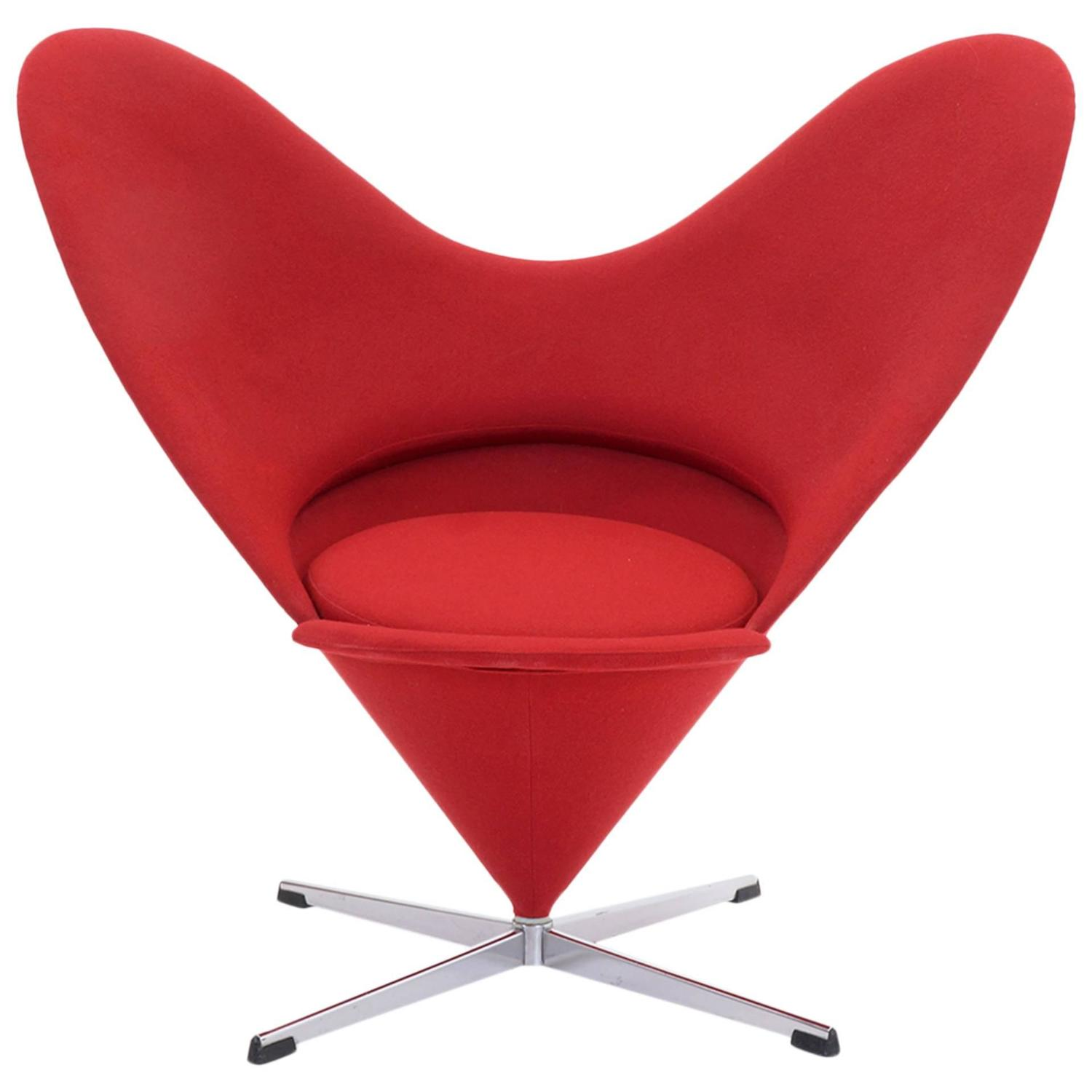 Heart Chair Original Verner Panton Cone Heart Chair For Plus Linje For