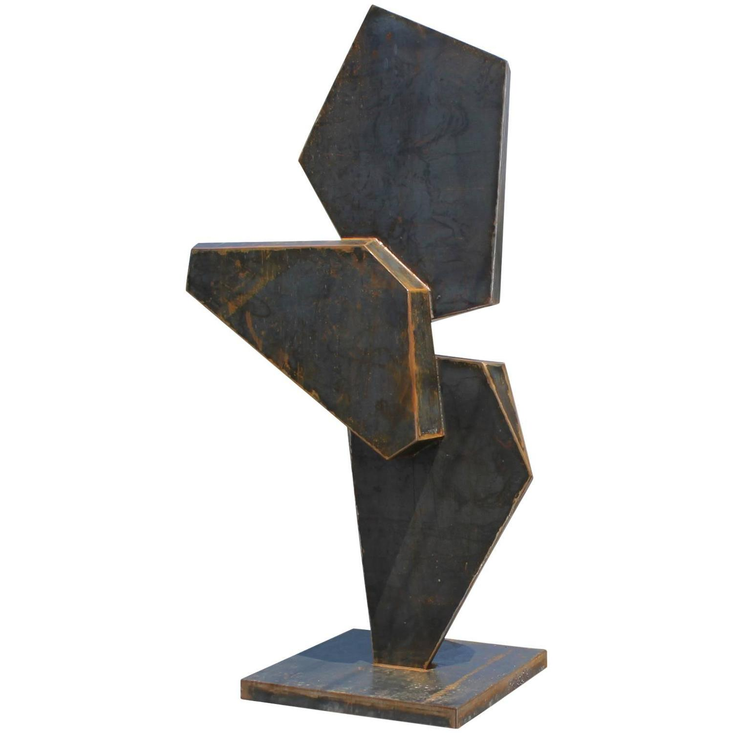 stunning steel chair attacks unfinished wood kitchen chairs monumental geometric corten sculpture for