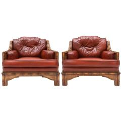 Leather Club Chairs For Sale Allsteel Sum Chair Pair Of Red At 1stdibs