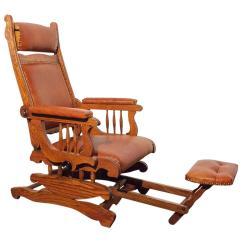 Rocking Chair Footrest Cover Rentals Victorian Platform Rocker With Foot Rest Circa 1890 At