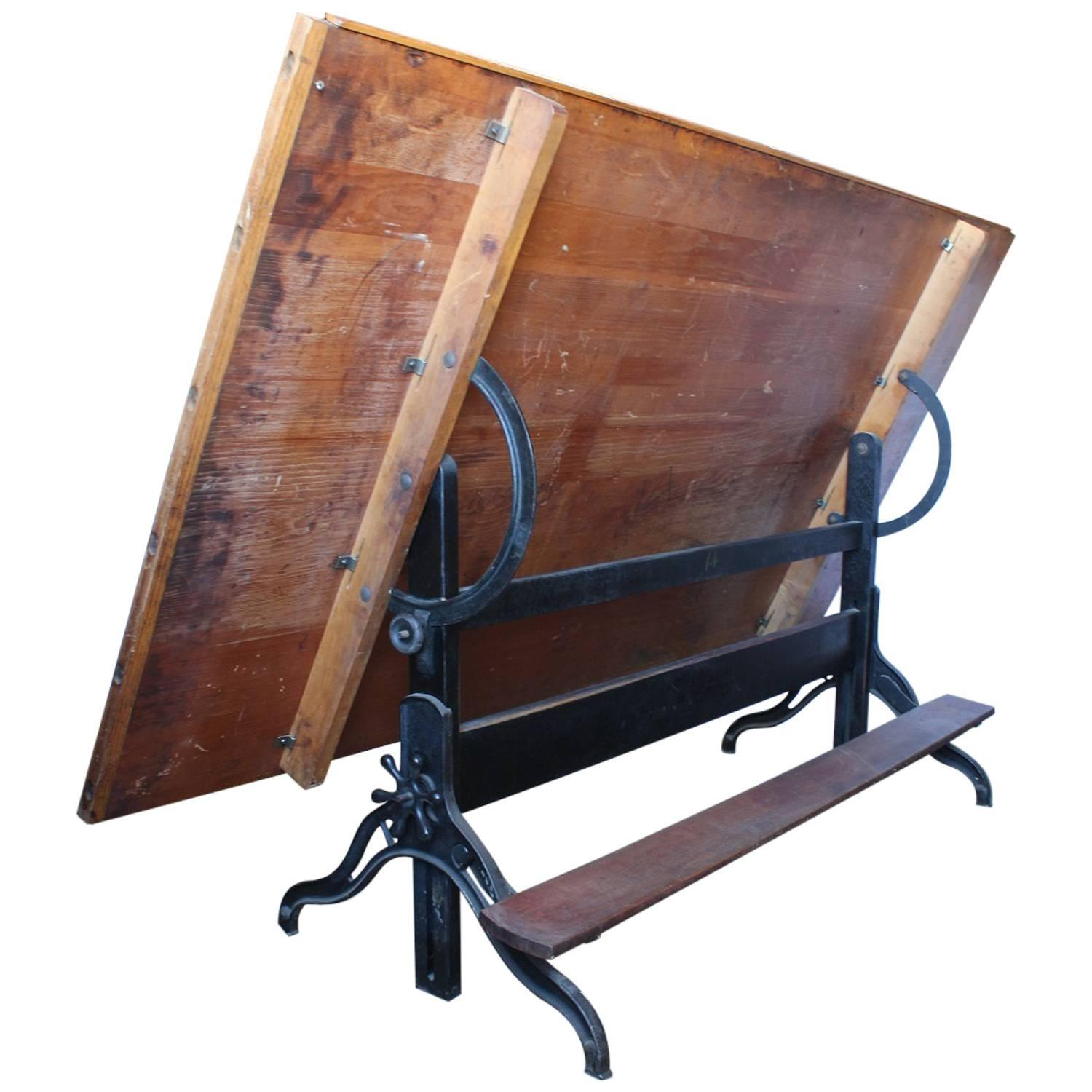 swing chair drawing back support for office singapore antique american drafting table sale at 1stdibs