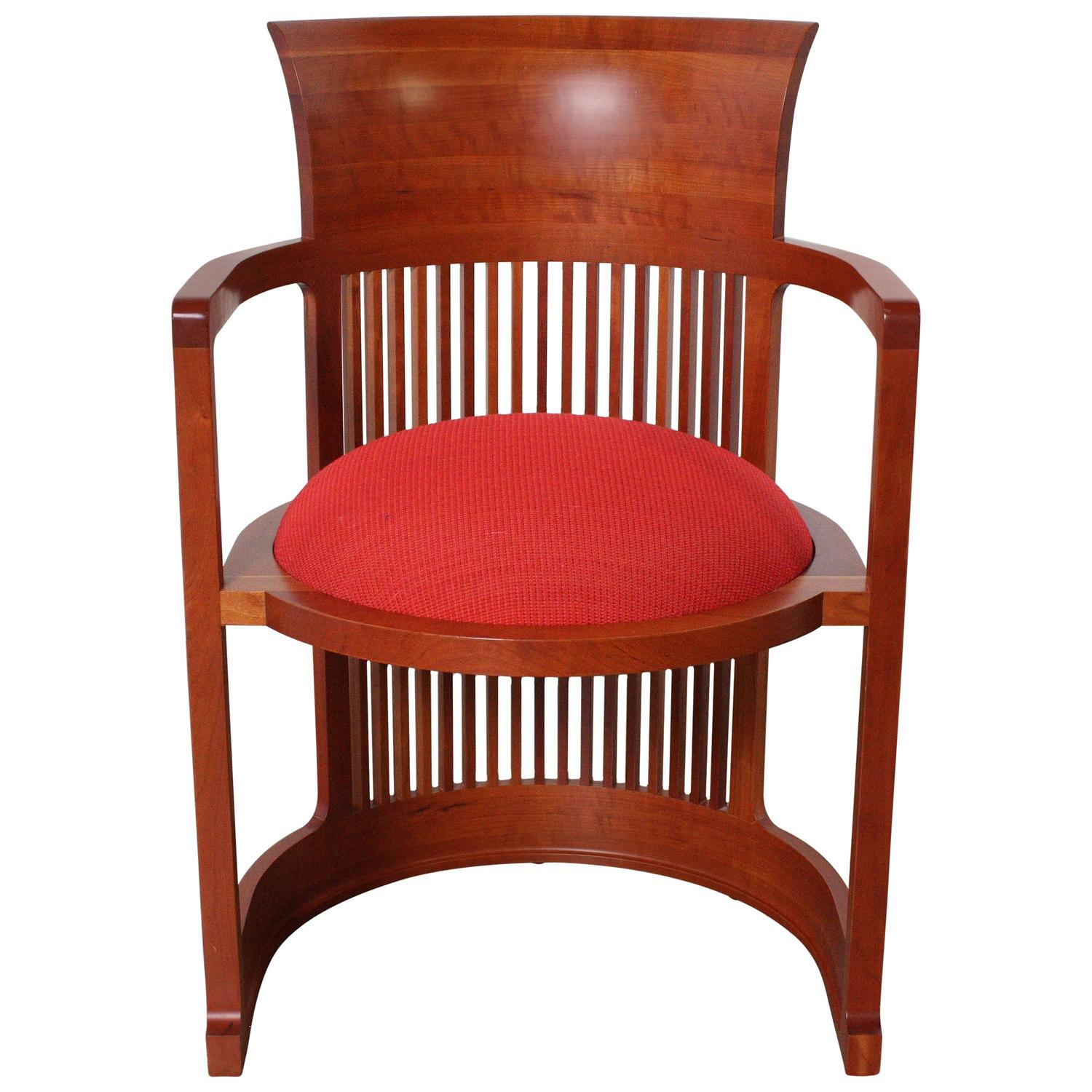 Frank Lloyd Wright Chairs Frank Lloyd Wright Barrel Chair From Cassina At 1stdibs