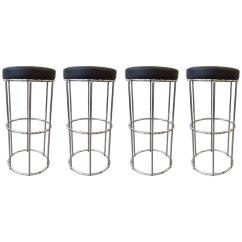 Seng Chicago Chair Childrens School Chairs Four Vintage Tubular Chrome Bar Stools For Sale At 1stdibs