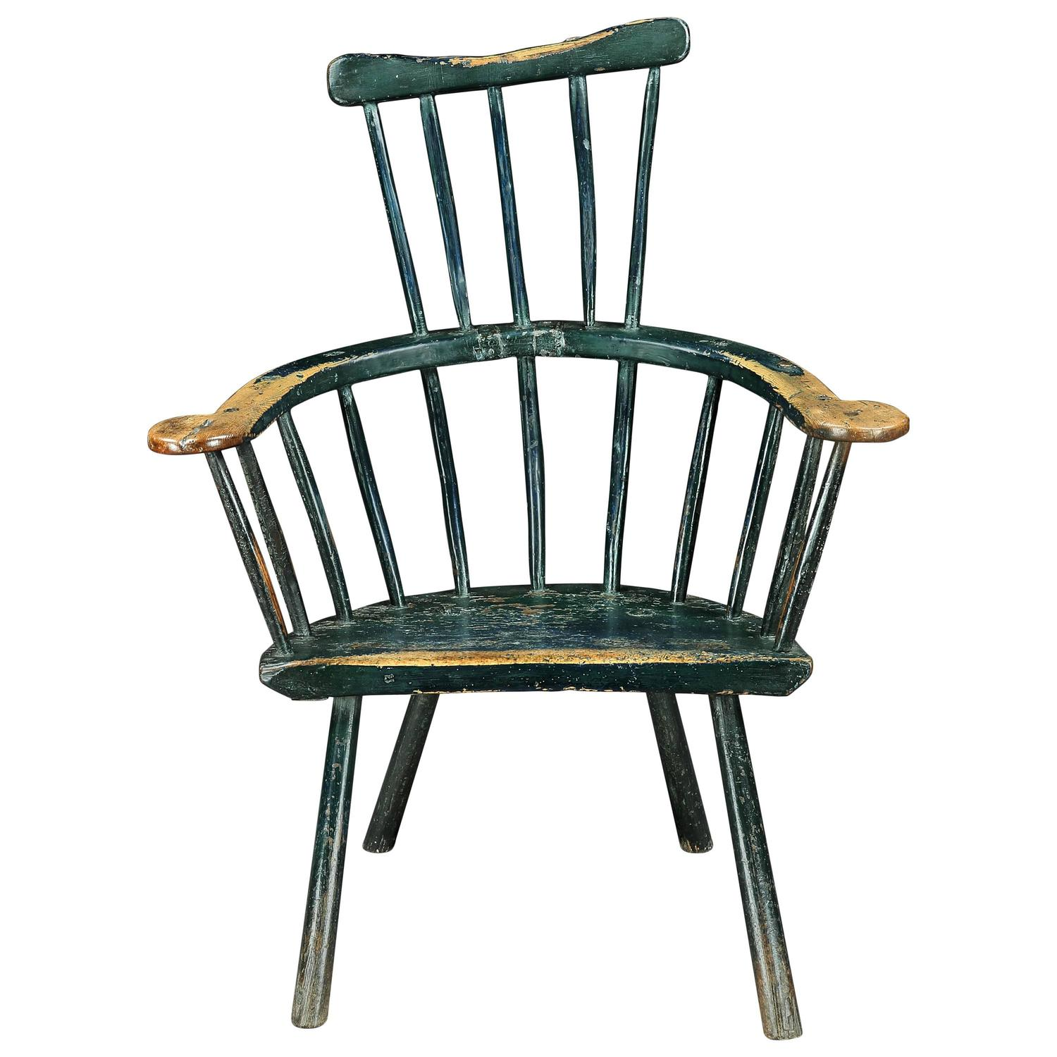 comb back windsor chair clip on umbrella for nz 18th century primitive at 1stdibs