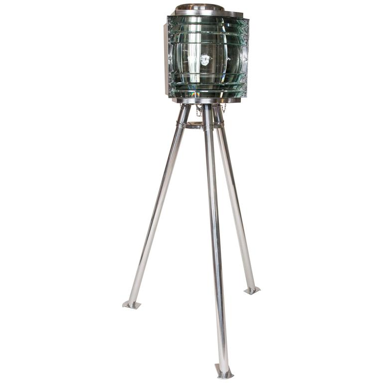WWII Era Portable Lighthouse Light by AGA with Fourth