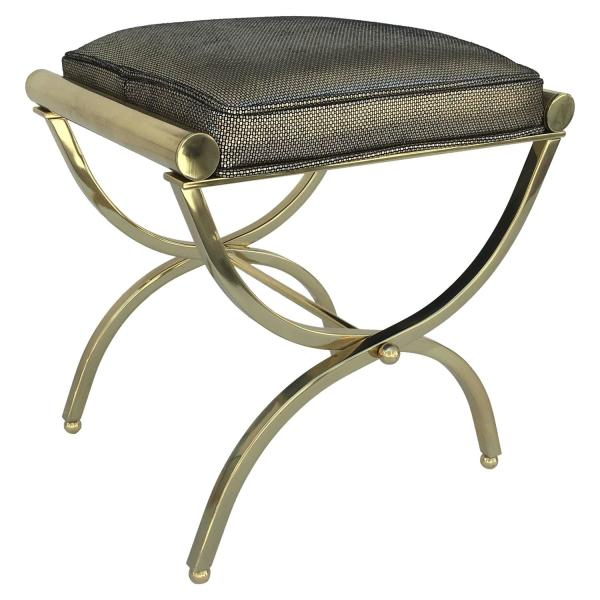 Brass and Leather Stool