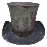 English Late 19th Century Metal Top Hat Trade Sign with ...