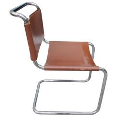 Leather Chairs For Sale Folding Chair Philippines Bauhaus Design Cantilevered Tubular Metal And Saddle By Mart Stam