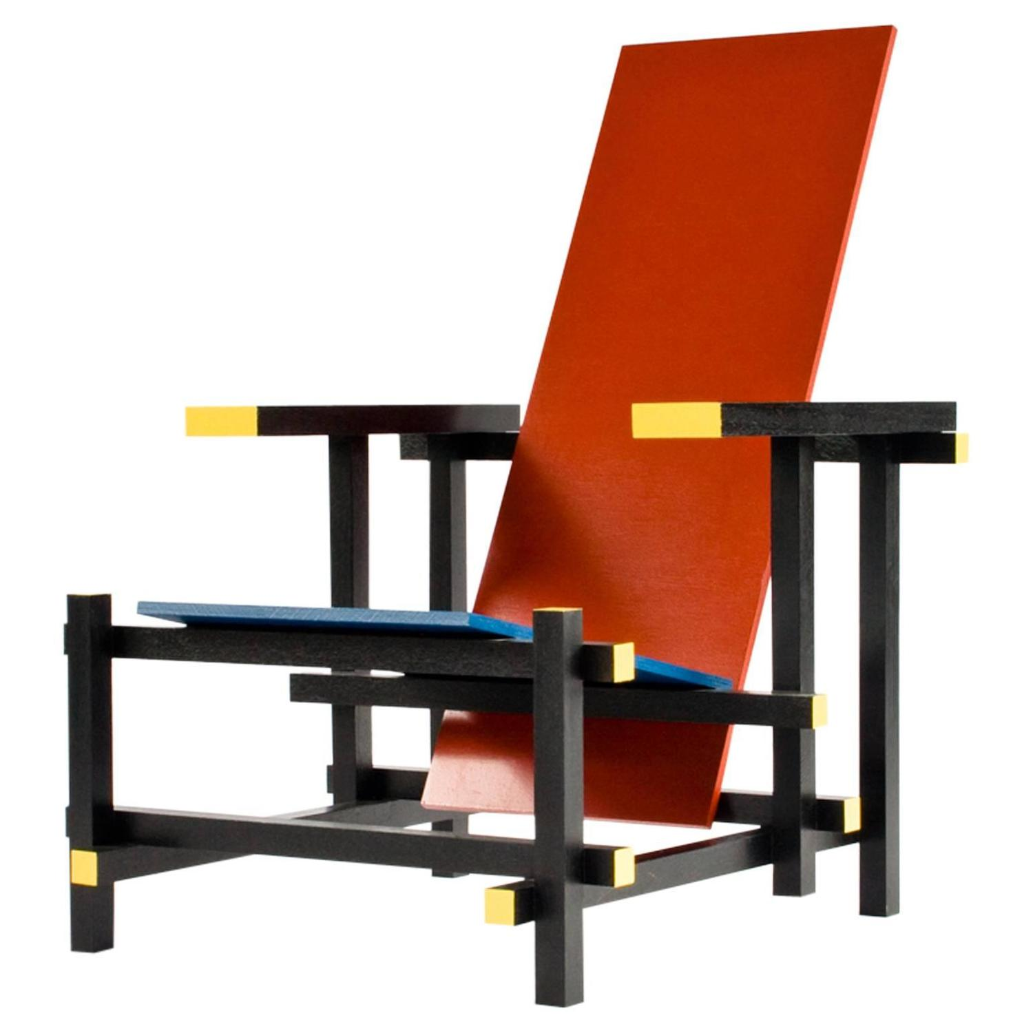 red blue chair upholstered linen dining chairs and in the manner of gerrit rietveld for