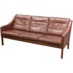 Borge Mogensen Sofa Model 2209 All Modern Sleeper Sofas Børge Cognac Leather For Sale At