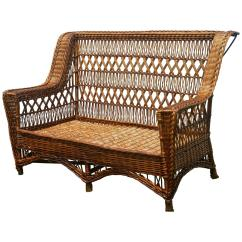 Antique Wicker Chairs Victorian Style Cheap Paine Furniture Willow Triple Cross Settee