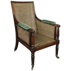 Bergere Chairs For Sale Cheap Comfortable Regency Mahogany Caned Chair At 1stdibs