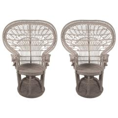 Fan Back Wicker Chair Ivory Dining Chairs Uk Pair Of Rattan Quot Emmanuelle Peacock