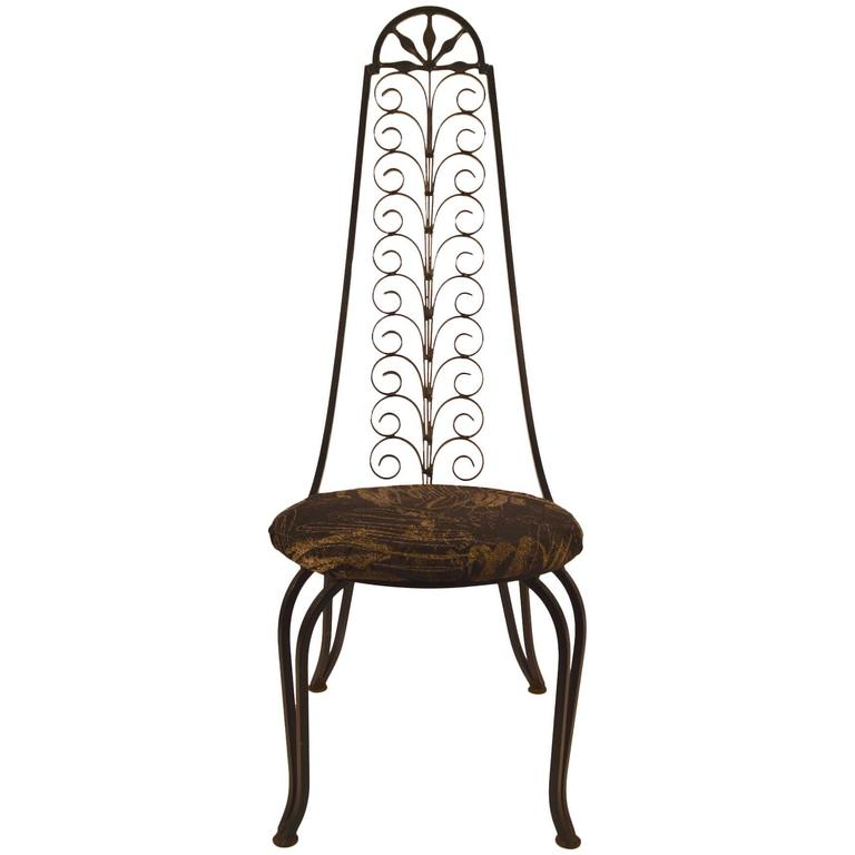 wrought iron chair kidkraft highlighter table and chairs stylish after umanoff for sale at 1stdibs