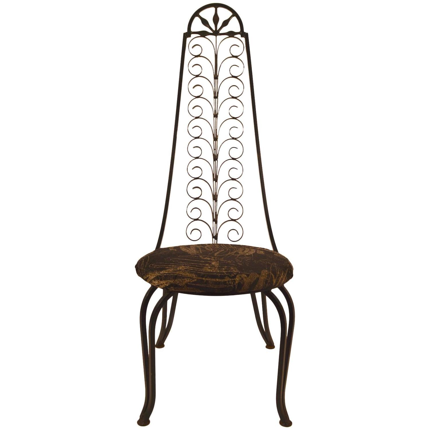 wrought iron chair padded beach stylish after umanoff for sale at 1stdibs