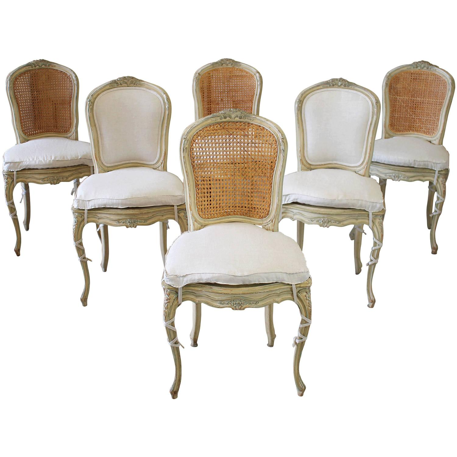 Cane Dining Chairs 19th Century Louis Xv Antique French Cane Dining Chairs