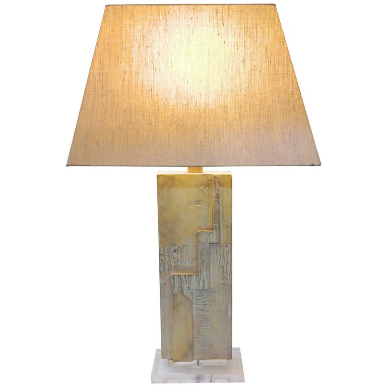 Large Cast Modernist Table Lamp by Casual Lamp Company of