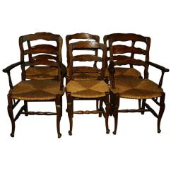 Ladder Back Dining Chairs Behind The Chair Com Set Of Six 19th Century Country French