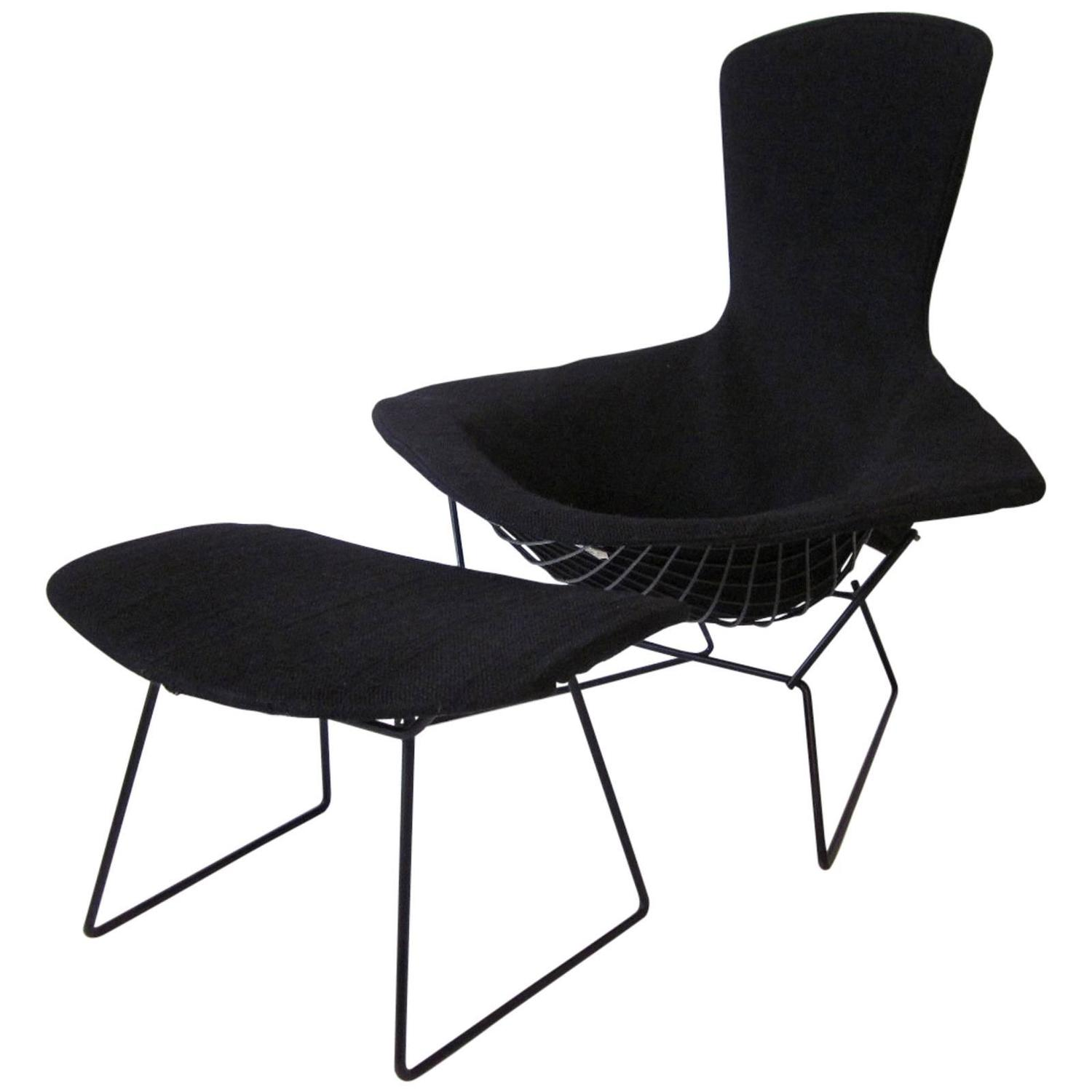 Harry Bertoia Chair Harry Bertoia Bird Chair And Ottoman For Knoll At 1stdibs