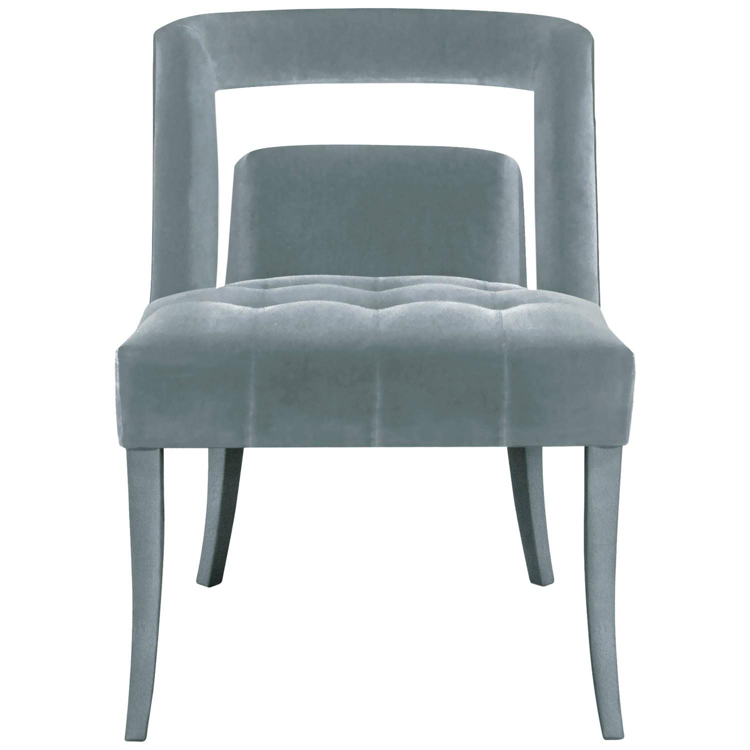 studded dining room chairs perfect posture in chair european modern velvet and nickel naj