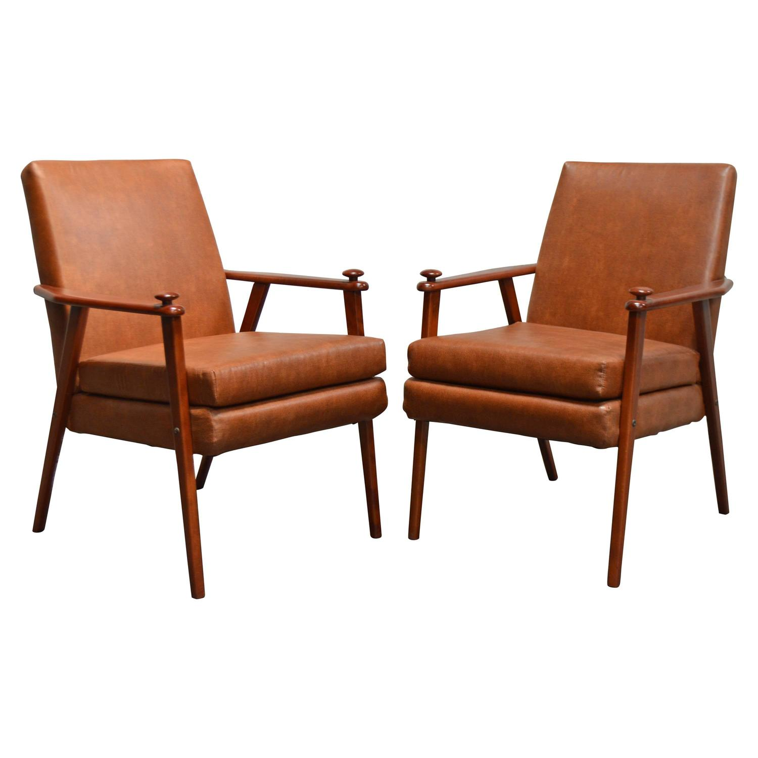 mid century modern side chair gliding rocking and ottoman pair of chairs for sale at 1stdibs