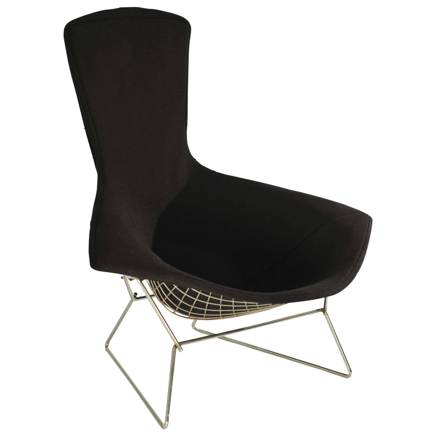 knoll bertoia chair aniline leather lounge and ottoman bird by harry for sale at 1stdibs