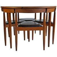 Mid-Century Modern Dining Table/Four Chairs, Hans Olsen ...