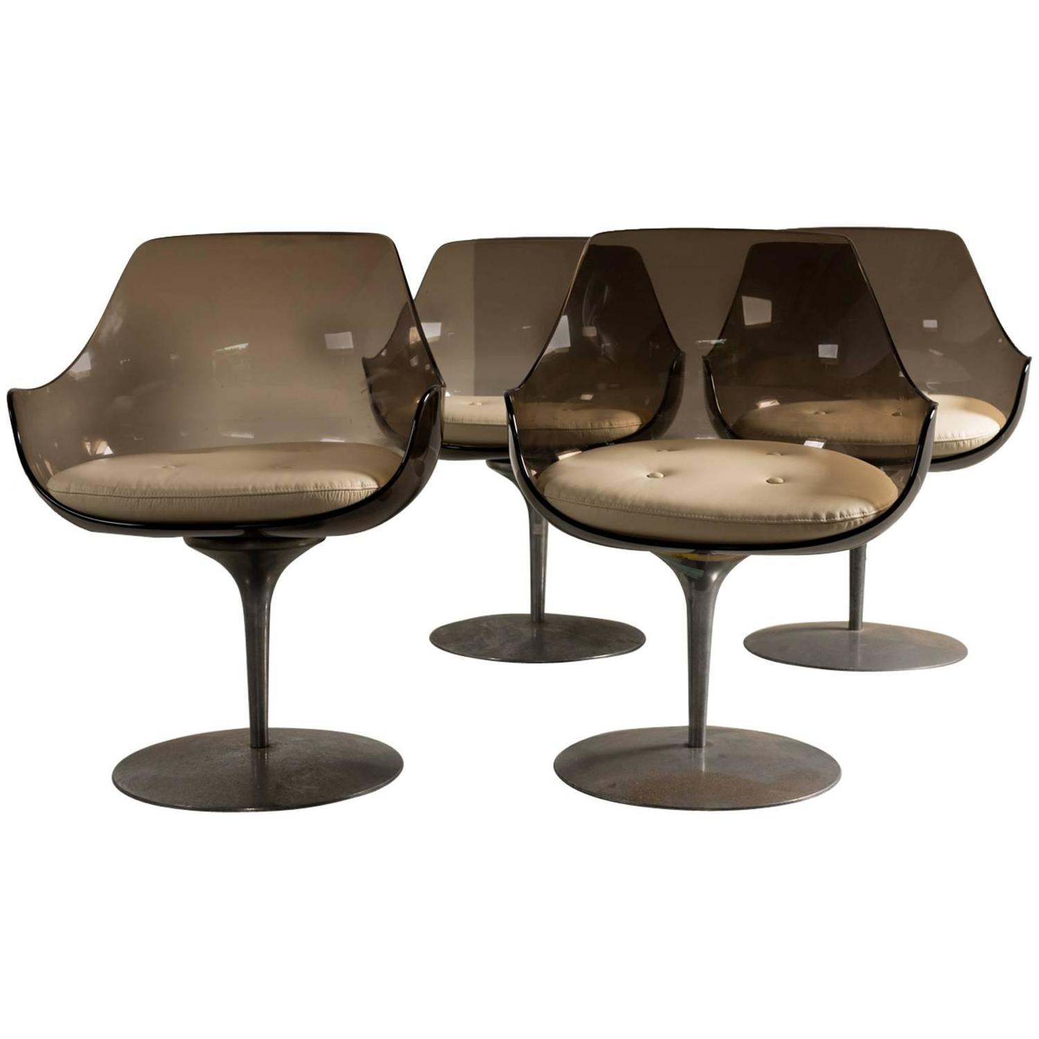 Champagne Chair Erwine And Estelle Champagne Chairs Set Of Four 1960s