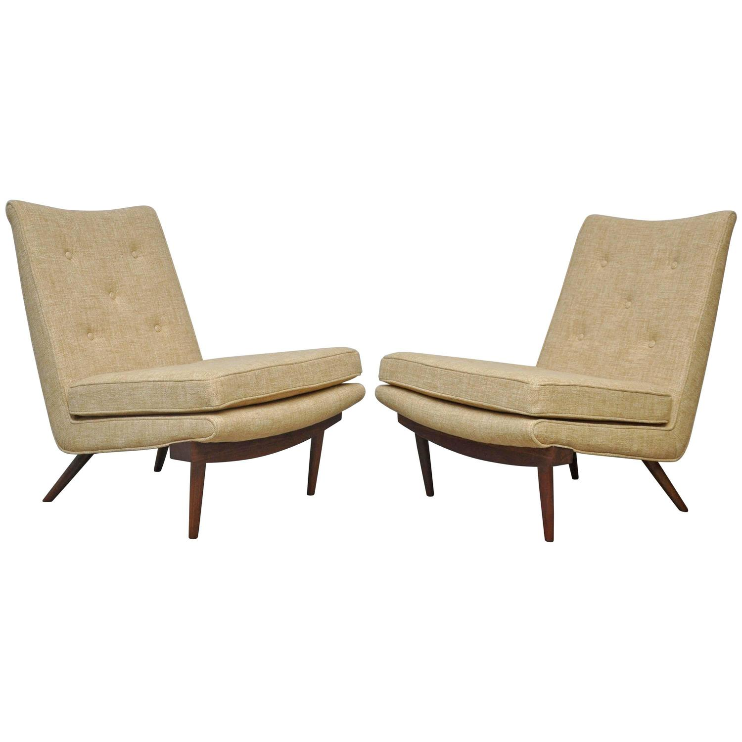 white leather slipper chair dining chairs uk george nakashima lounge at 1stdibs