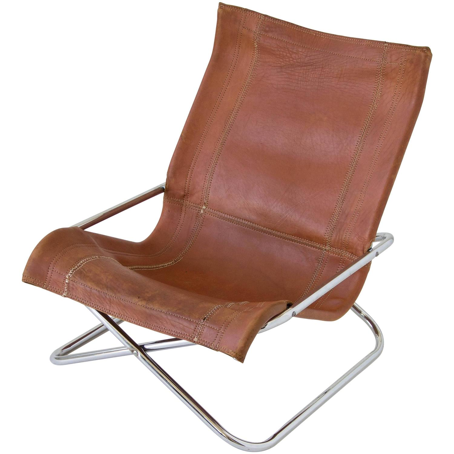 sling folding chairs plastic chair covers bunnings sueki uchida leather for sale at 1stdibs
