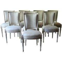 Louis Dining Chairs Stadium With Armrest Set Of Eight Painted French Xvi Style