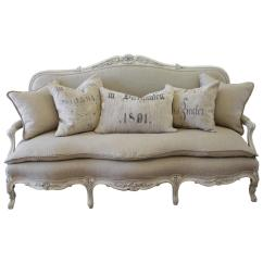 How To Remove Hair Dye Stain From Leather Sofa Ikea Hovas Cover White Antique Painted French Country Louis Xv Style Settee