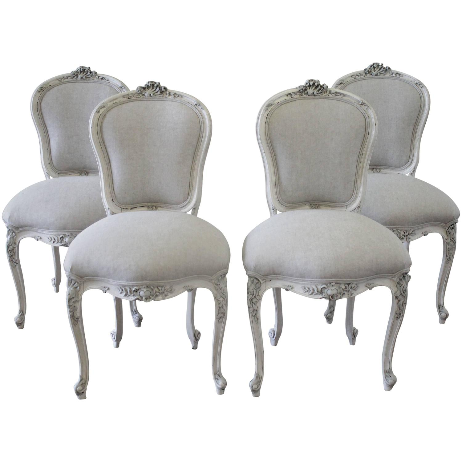 french antique chairs for sale chair cover rental kansas city set of four rococo painted dining