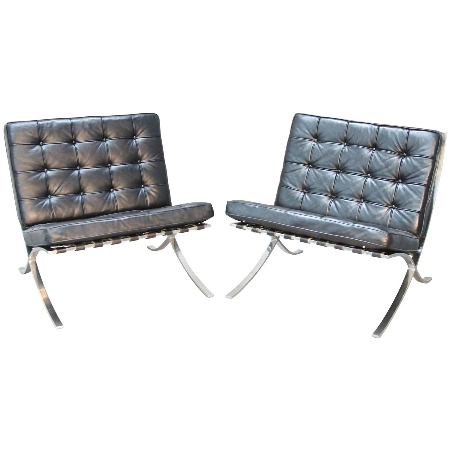 barcelona chairs for sale weird vintage by mies van der rohe at