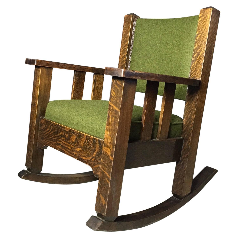 murphy chair company wine barrel adirondack chairs paddle arm quartersawn oak rocker michigan co usa