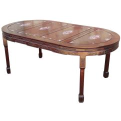 Japanese Table And Chairs Henriksdal Chair Cover Etsy Vintage Chinese Rosewood Mother Of Pearl Dining