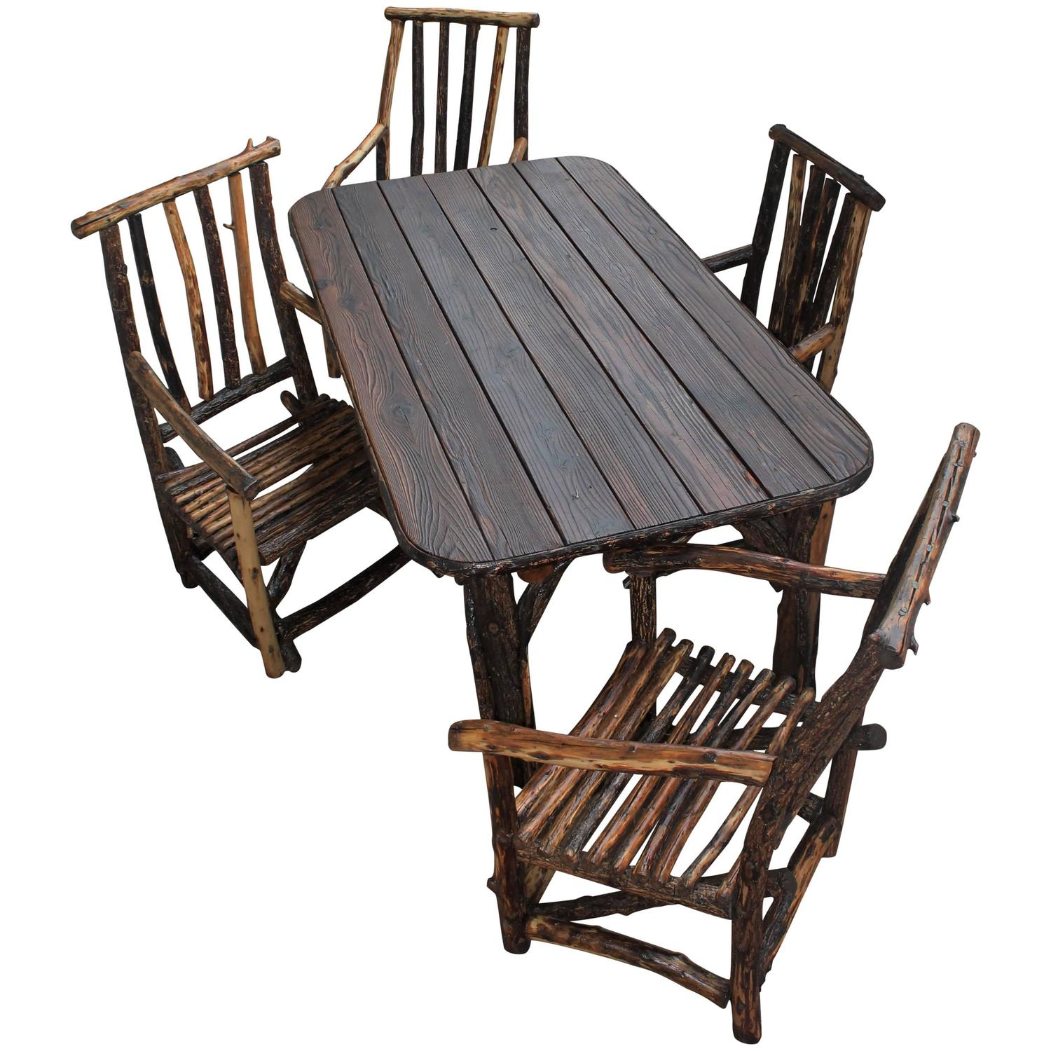 hickory chairs for sale haworth zody chair rustic handmade table and at 1stdibs
