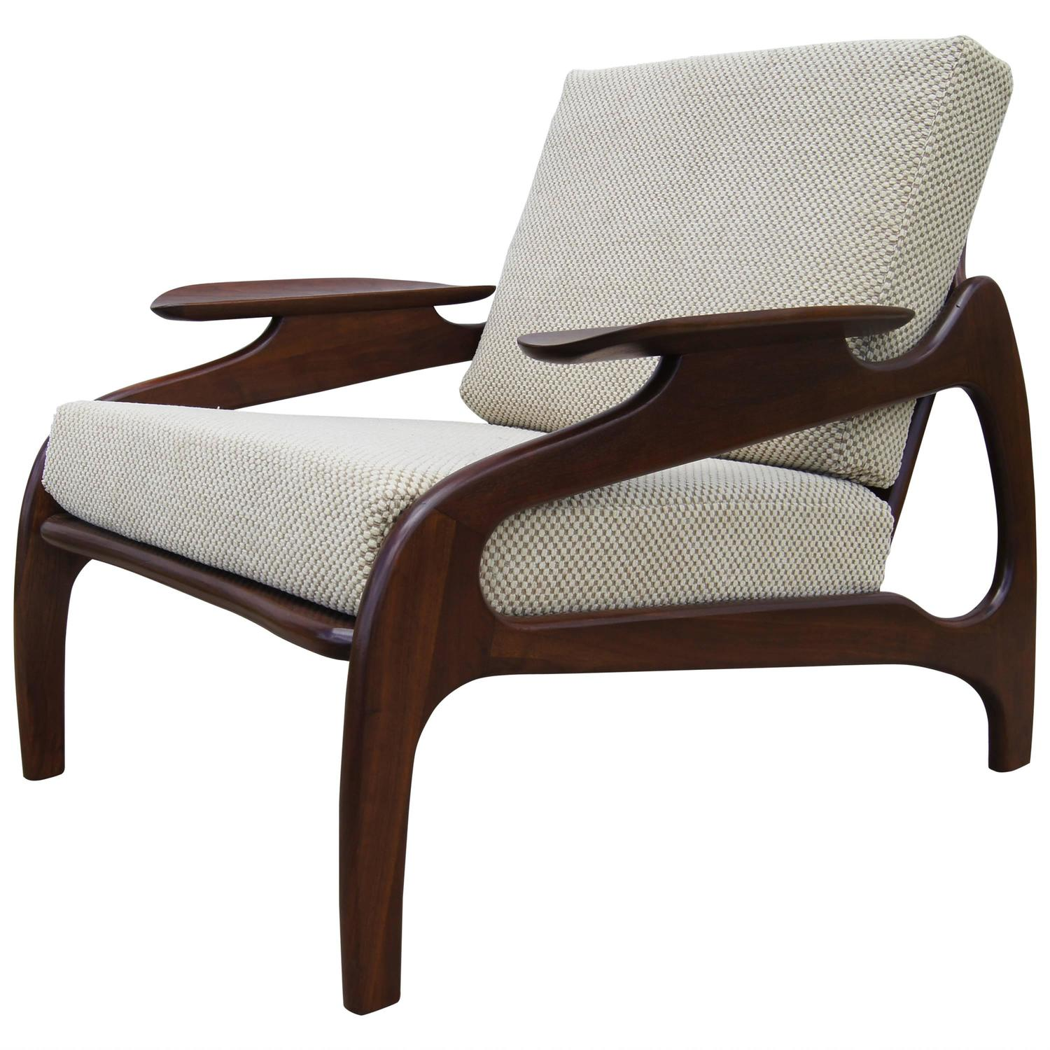 adrian pearsall chair designs rocking pads for nursery model 1209c walnut lounge by