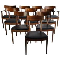 Set of Ten Mid-Century Dining Chairs by Kipp Stewart for ...
