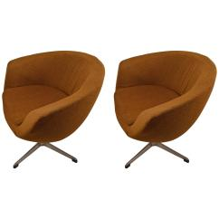 Swivel Pod Chair Desk Best Pair Of Overman Chairs For Sale At 1stdibs