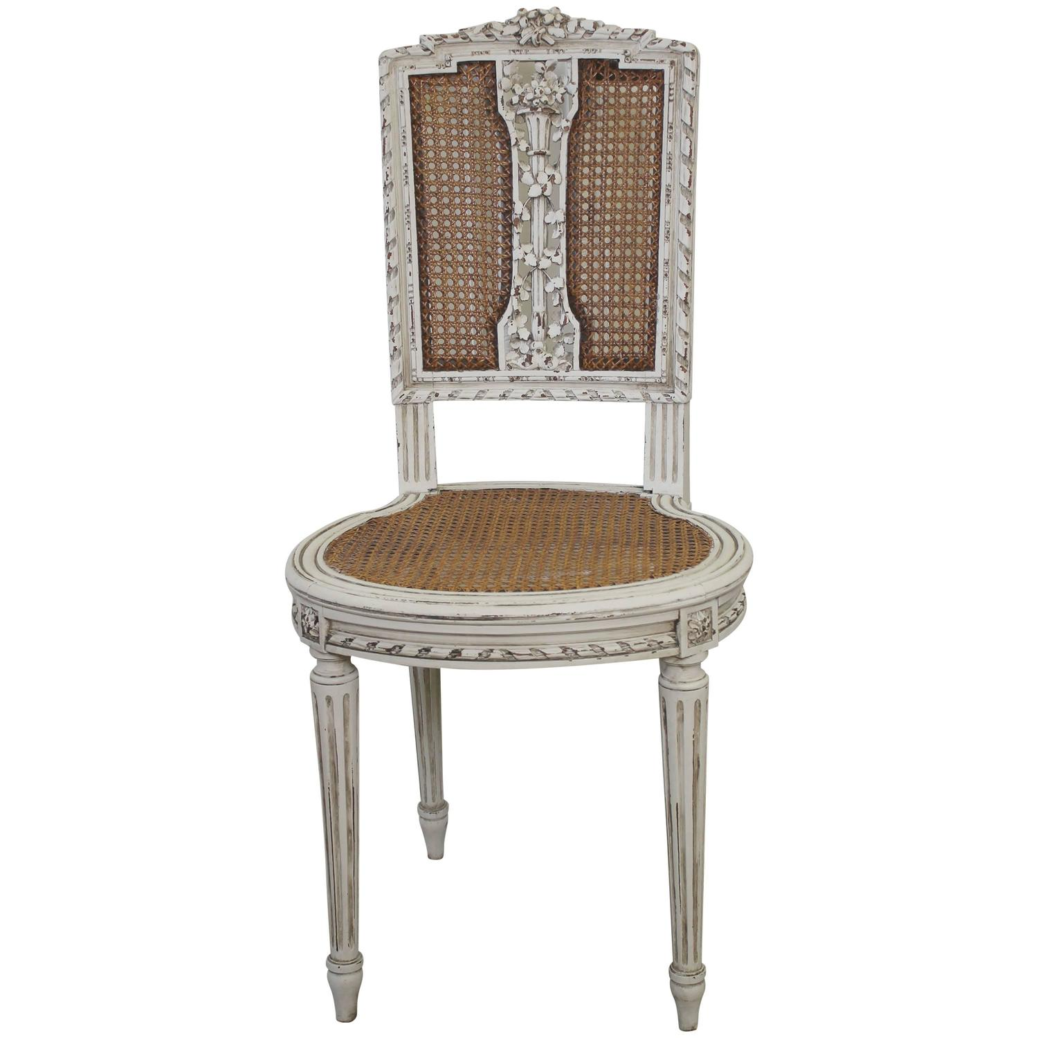 cane back chairs antique office chair craigslist louis xvi vanity at 1stdibs
