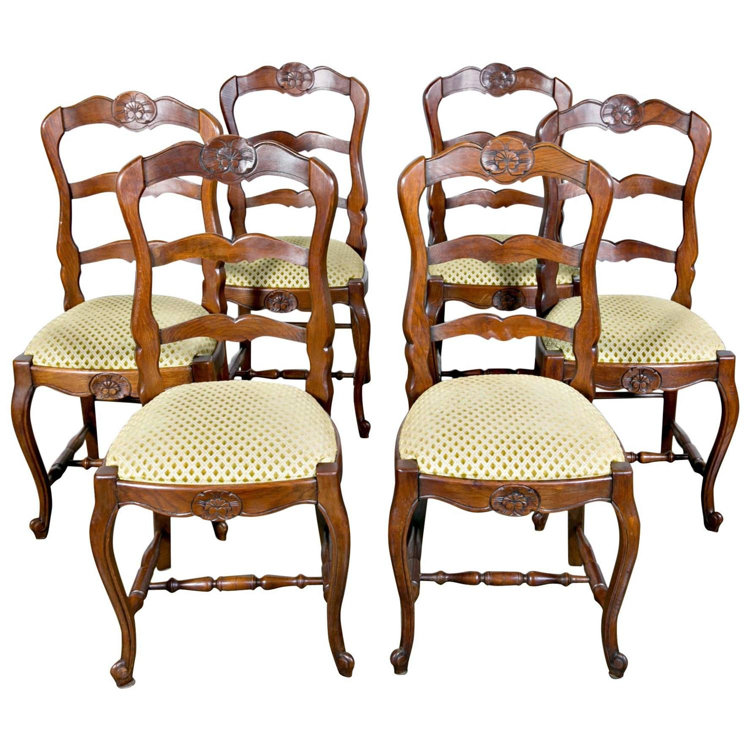 ladder back dining chairs french country big lots lawn set of six with