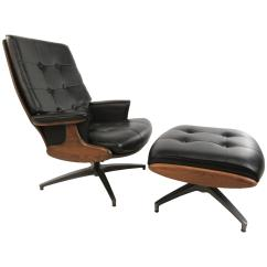 Swivel Club Chair With Ottoman Rustic Dining Chairs Heywood Wakefield Lounge At 1stdibs
