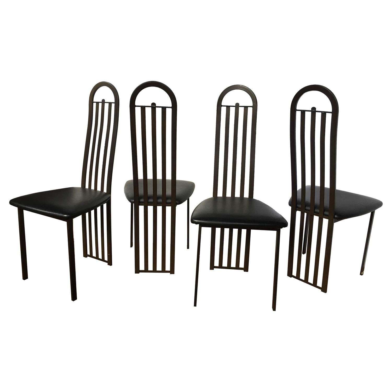 modern metal chairs wheelchair marathon bronze dining canada for sale at 1stdibs