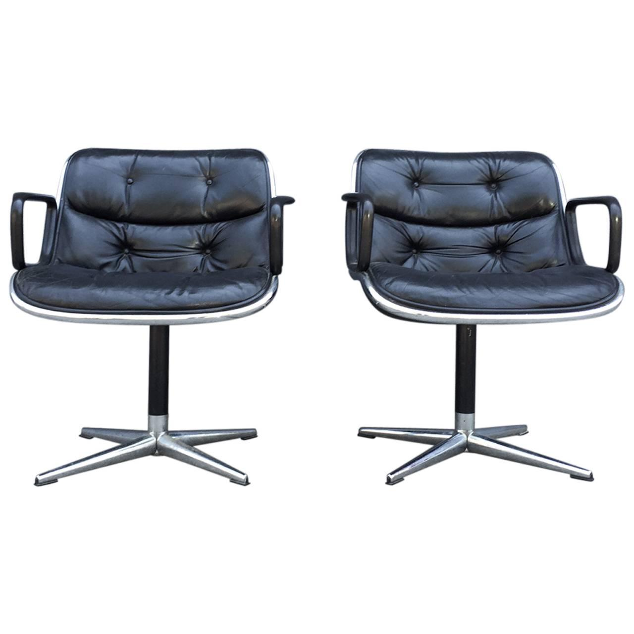 Knoll Pollock Chair Pair Of Early Charles Pollock For Knoll Accent Chairs For