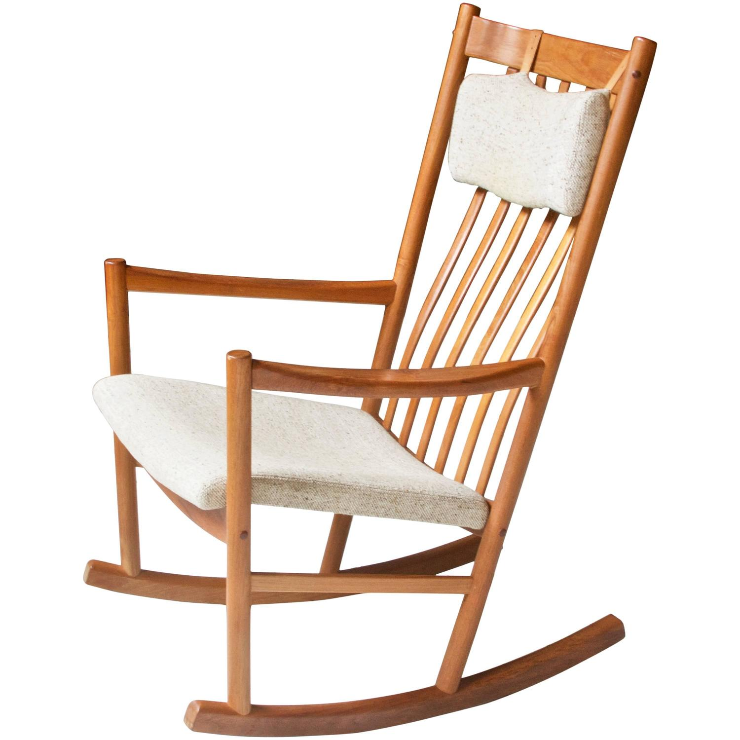 Cheap Rocking Chairs Vintage Hans Wegner For Tarm Stole Teak And Wool Rocking Chair 1960s