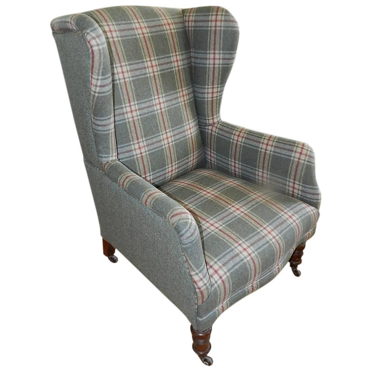 wingback chair for sale racer office antique upholstered wing at 1stdibs